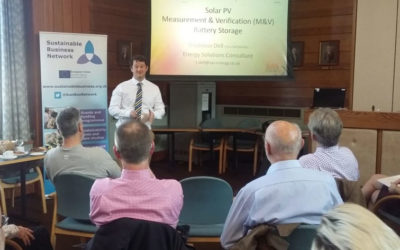 Thaddeus Dell expert speaker at a Sustainable Business Partnership event