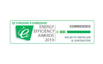 SAS ENERGY is awarded as one of Yorkshire's best Solar Installers of the Year