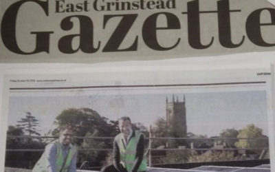 Newspaper article re SAS ENERGYs work at Chequer Mead
