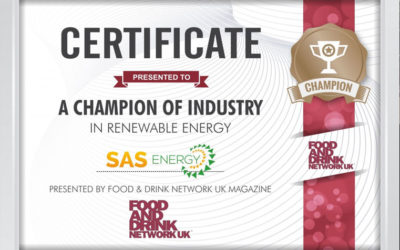 SAS Energy is the Champion of Renewable Energy according to Food and Drink Network Magazine